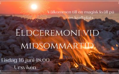 Eldceremoni vid midsommartid 16 juni