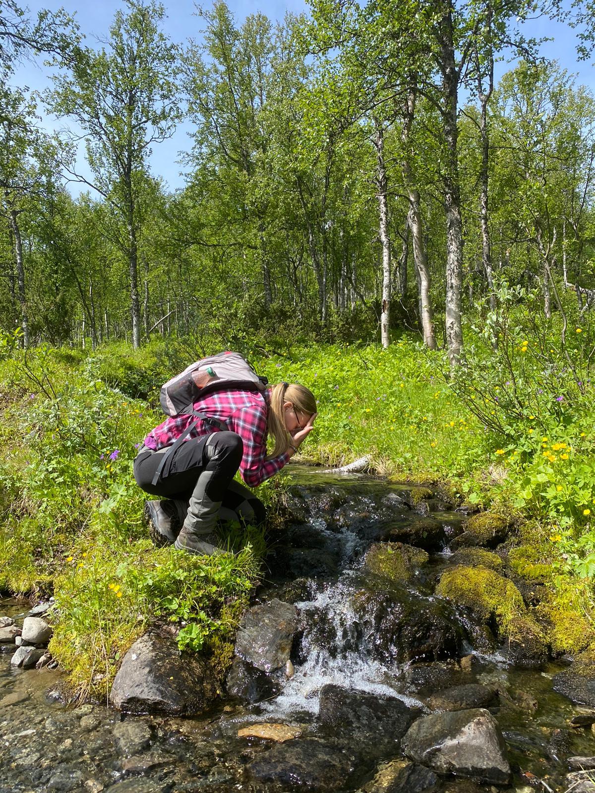 Anna Larsson in Ammarnäs